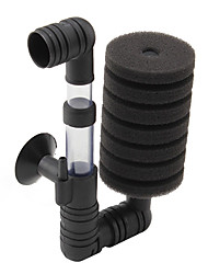 Low-Noise Aquarium  Water Dual-Sponge Filter (15cm x 8cm x 5cm)