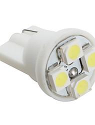 T10 3528 SMD 4-LED White Light Bulb for Car (DC 12V, Set of 4 pcs)