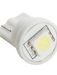 t10 5050 SMD LED ampoule à lumière blanche pour la voiture (12V DC, un ensemble de 10 pièces)