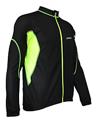 JAGGAD Cycling Tops / Jacket / Windbreakers Men's Bike Windproof Long Sleeve Polyester Patchwork Yellow / Blue / OrangeS / M / L / XL /
