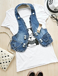 Trendy Halter Denim Vest