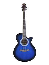 """blitz - wmg15 40 """"mini-guitare en contreplaqué de tilleul jumbo acoustique cutaway avec une clé Allen"""