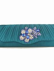 magnifiques sacs à main de soirée en soie / acrylique / bijoux sacs à main et sacs de poignée à son sommet