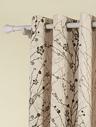 (One Panel)Branches Contemporary Window Curtain