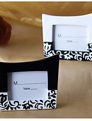 en blanco y negro complementaria patrón marcadores de posición de la tarjeta o marcos de fotos (juego de 2)