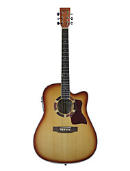 "Blitz - DG170 41"" Spruce Plywood Cutaway Dreadnought Acoustic-Electric Guitar with Allen Wrench"