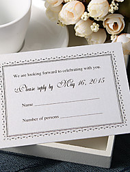 Personalize Wedding Response Cards - Fomal Response (Set of 50)