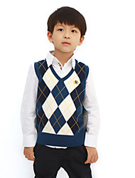 Diamond Check Knitwear Vest