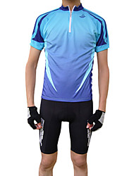 Jaggad Cycling Jersey Men's Short Sleeve Bike Jersey Tops Quick Dry Breathable Polyester Spring Summer Cycling/Bike Green Blue