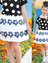 Polka Dot and Flower Skirt