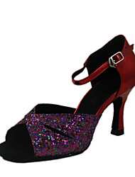 Sparkling Glitter/Leatherette Upper Women Dance Shoes Ballroom Latin Shoes More Colors