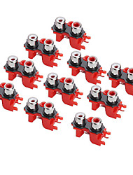 3.5mm RCA 2P Jack Socket for Electronics DIY (10 Pieces a pack)
