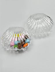 Crystal Shell Style Favor Holder - Set of 12