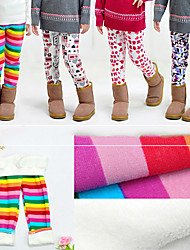Girls Thicken Velvet Warm Elasticity Boots Pants