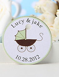 Personalized Favor Tag - Pram (Set of 36)
