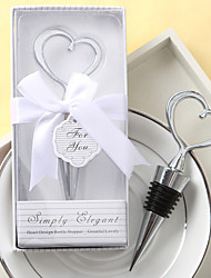 "Chrome Bottle Favor Bottle Stoppers Classic Theme Silver 4 1/2""""×1 3/4"" (11.4*4.5cm)Gift box with a organza ribbon and ""Coordinated For"