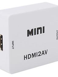 v1.3 Mini-HDMI-auf-Cinch CVBS + lr-Konverter-Box 0.75m