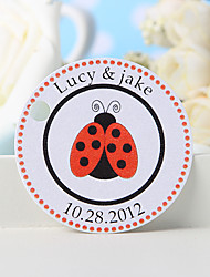 Personalized Favor Tag - Ladybug (Set of 36)