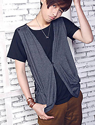 Simple Two-Piece Like Men's Short Sleeve T-shirt
