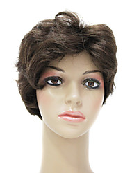Capless High Quality Synthetic Short Brown Wig