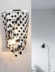 contemporaine 2 - appliques lumineuses avec des gouttes de cristal