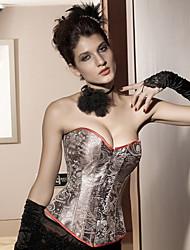 acrílico / spandex com jacquard strapless frente fechamento busk espartilho shapewear shaper lingerie sexy