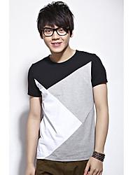 couleur de base de coton de blocage t-shirt
