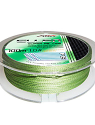 100M / 110 Yards / 300M / 330 Yards / 600M / 660 Yards PE Braided Line / Dyneema / Superline Fishing Line Forest Green10LB / 15LB / 25LB