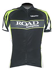 KOOPLUS Men's Cycling Tops / Jerseys Short Sleeve Bike Summer Breathable / Quick Dry / Front Zipper BlackS / M / L / XL / XXL / XXXL / XS