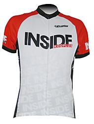 KOOPLUS® Camisa para Ciclismo Homens Manga Curta Moto Respirável / Secagem Rápida / Zíper Frontal Camisa/Fietsshirt / Blusas100%