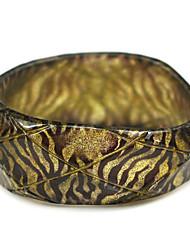 rodada das senhoras resina pulseiras pulseira clássico no corte superfície moldado com as veias da zebra