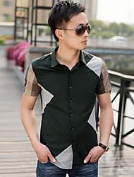 couleur à la mode de blocage chemise en coton