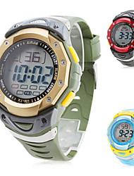 Men's Silicone Digital Automatic Sport Wrist Watch (Assorted Colors)