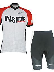 kooplus cortos-los hombres de trajes de manga larga en bicicleta (en el interior de color rojo)