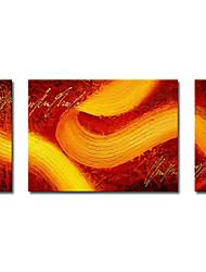 Hand bemalt abstrakten Ölgemälde mit gestreckten Rahmen - 3-er Set