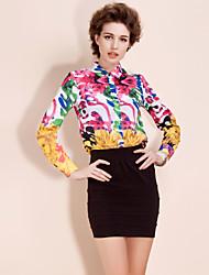 ts style baroque impression chemisier chemise button-down (plus de couleurs)