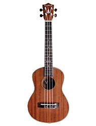 hanknn - (5270s) solido ukulele tenore sapele con gig bag / string / proposte
