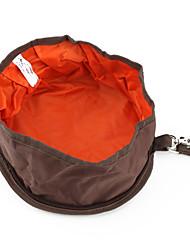 portable à double zip sac bol pour animaux de compagnie