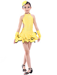 dancewear Spandex Leistung latin dance dress für Kinder