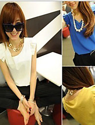 Fashion Sleeve Chiffon Blouse