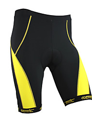 Santic-Cycling Shorts Men and Women's Coolmax Material Cycling 1/2 Shorts(Yellow)