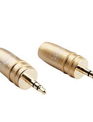 2 pièces audio stéréo 3,5 mm connecteur adaptateur diy