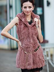 Sleeveless Party/Evening Rabbit Fur Vest (More Colors)