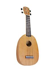 yadars - ukulele soprano mogno com bag (forma de abacaxi)