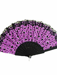 Japanese Style Fans With Lace - Set Of 4