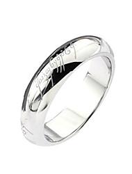 Titanium Stahl Bright Silver Ring
