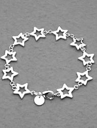 erstaunlich, versilbert zehn Sterne Frauen-Armband