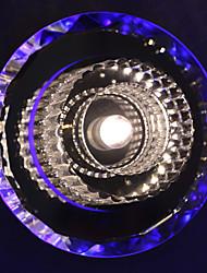 1w moderna pasillo de luz LED con cristales cromado