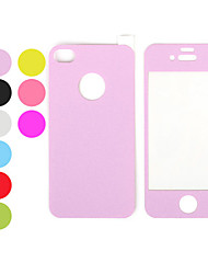 Colorful Leather Touch Front and Back Screen Protector Film for iPhone 4 and 4S (Assorted Colors)