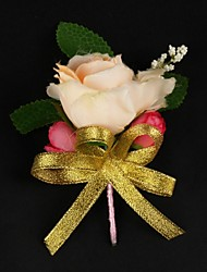 Elegant Satin / Cotton Free-form Boutonniere